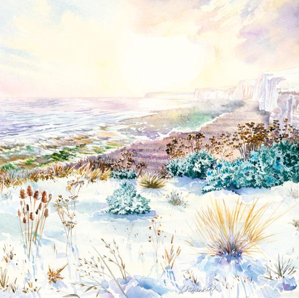 Winter-Sun-at-Birling-Gap-by-Liz-Hankins